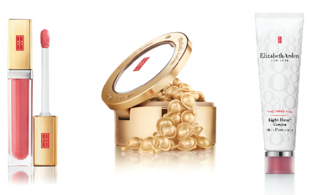 Elizabeth Arden Beautiful Color Luminous Lip Gloss, Ceramide Capsules Daily Youth Restoring Serum, Eight Hour Cream Skin Protectan