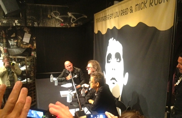Mick Rock, Lou Reed, John Varvatos at Transformer book launch