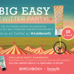 birchbox benefit twitter party with pretty connected