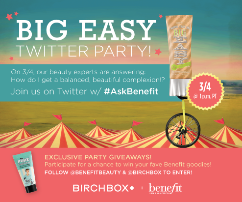 Lets talk beauty! Join my twitter chat from 4-5pm ET with Birchbox & Benefit #AskBenefit