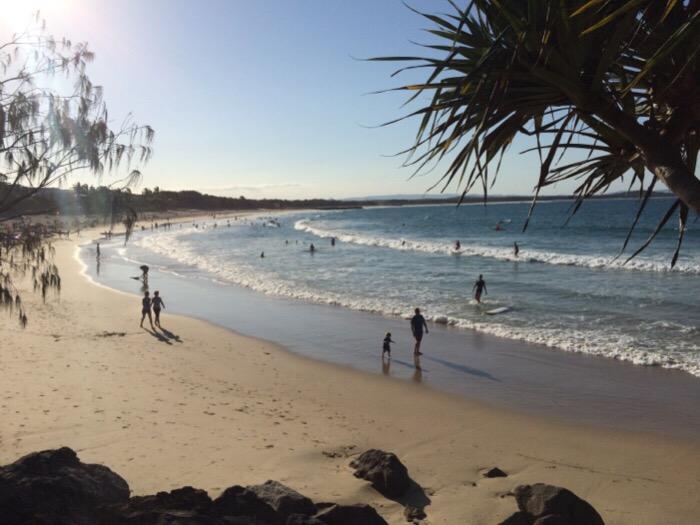 Noosa Beach off of Hastings Street