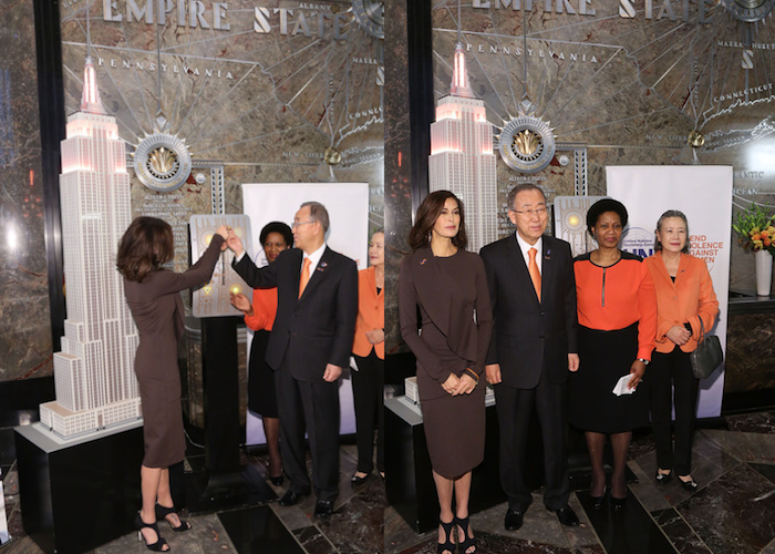 UN Secretary-General Ban Ki-Moon and Teri Hatcher to Light Empire State to Help End Violence