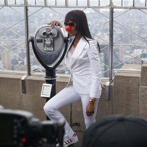 My Naomi Campbell lighting the Empire State Building in honorhellip