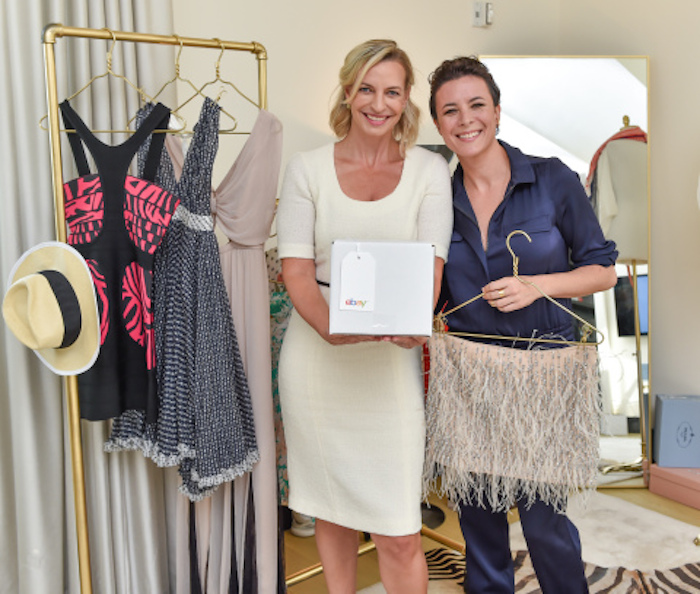 Marcelle Parish, head of fashion for eBay Marketplaces, and renowned fashion blogger Garance Dore celebrate the expansion of eBay Valet into apparel at The New York EDITION (Photo: Business Wire)