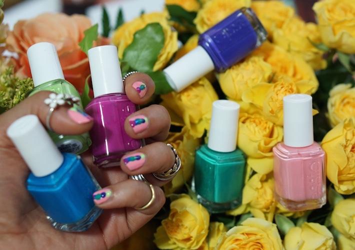 essie diy artsy manicure