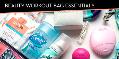 Beauty workout bag essentials