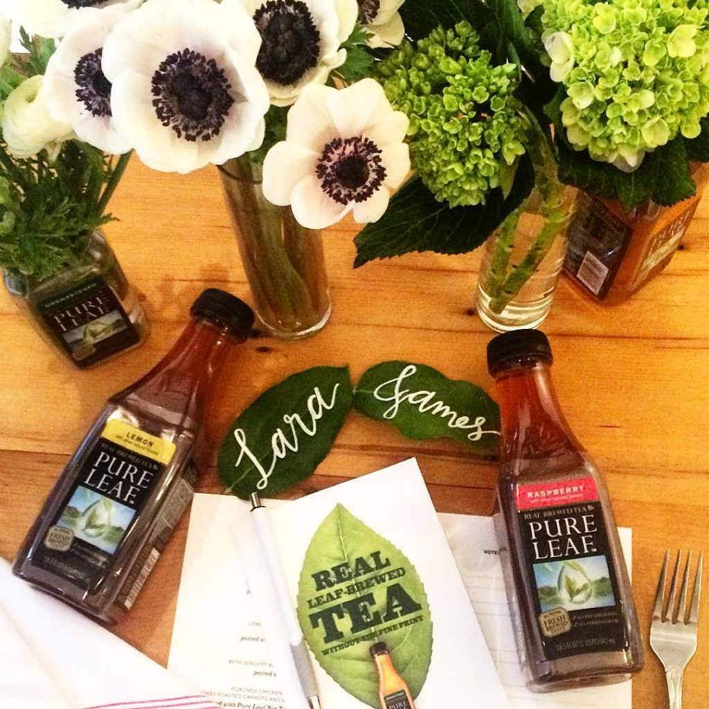 Lovely tea and food pairing dinner with Pure Leaf RealLeafBrewed