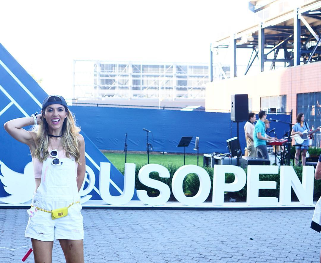 Such an awesome day! Thank you @americanexpress for an epic @USOpen experience#BlueCashEveryday #AmexTennis #USOpen #Sponsored