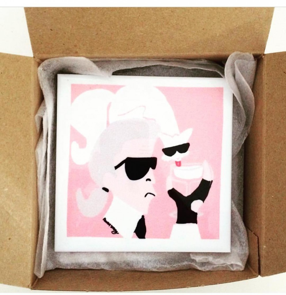 Are Choupette by eightyseventhst coasters on your holiday wishlist? giftguidehellip