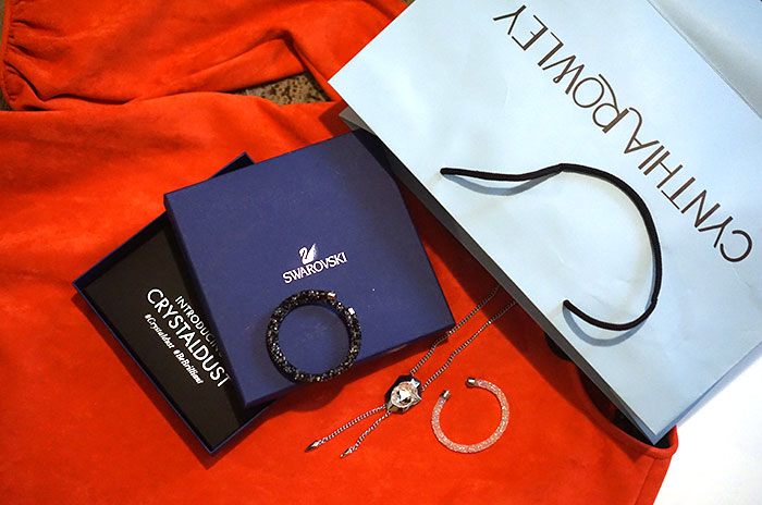 swarovski-crystal-bracelet-cynthia-rowley-bell-sleeve-dress