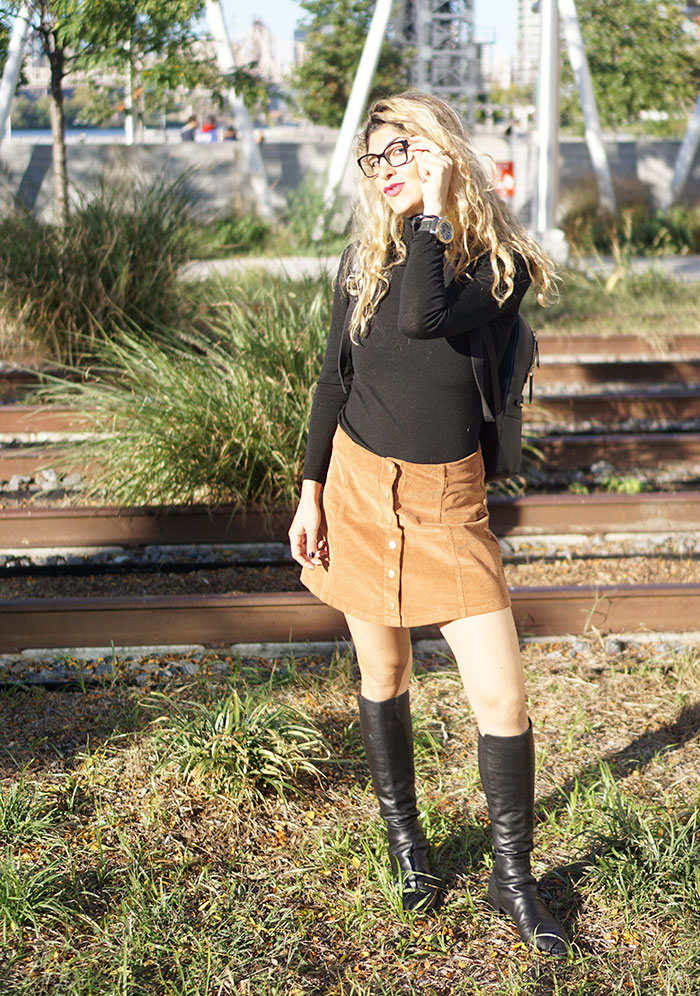 lenscrafters-miu-miu-glasses-white-crow-brand-corderoy-skirt