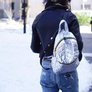 Backpack on repeat especially since its reversible silver to black!hellip