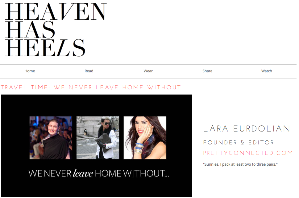 Heaven Has Heels, Lara Eurdolian