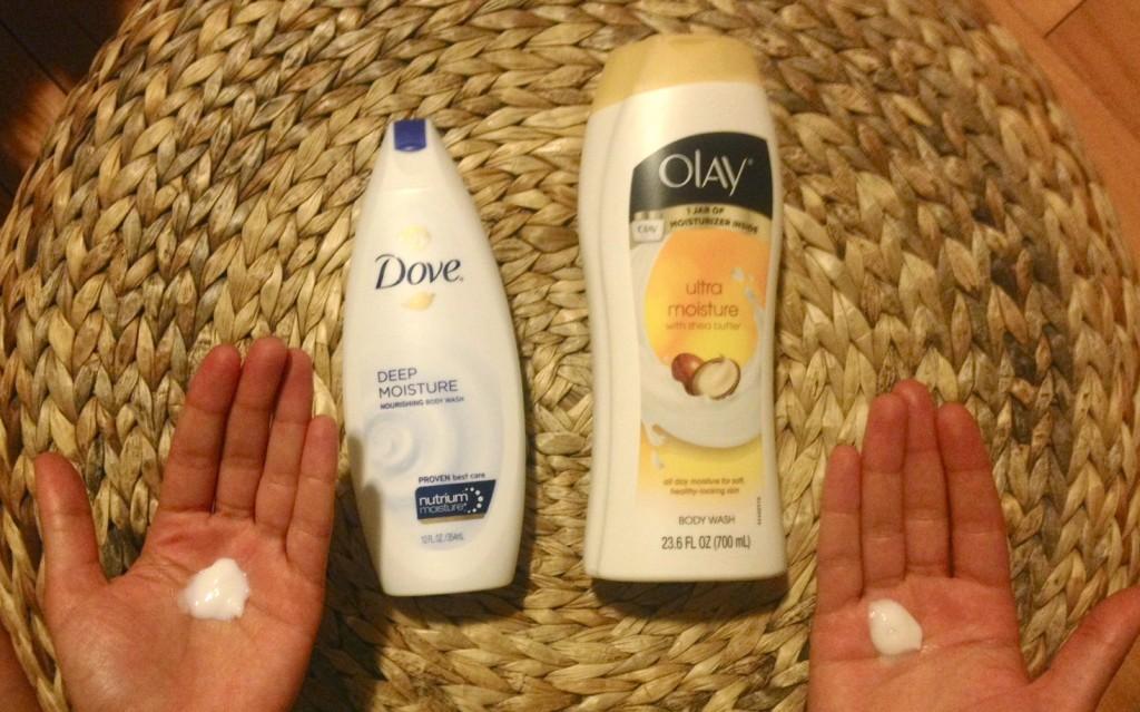 Dove body wash, olay body wash