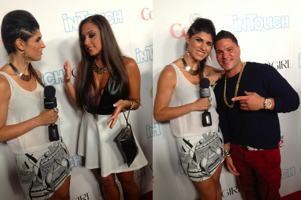 Sammi 'Sweetheart' Giancola and Ronnie Ortiz-Magro at Icons and Idols