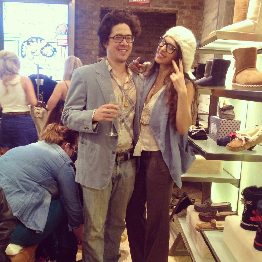Lara Eurdolian, James King at UGG 35th Anniversary, 70s theme party