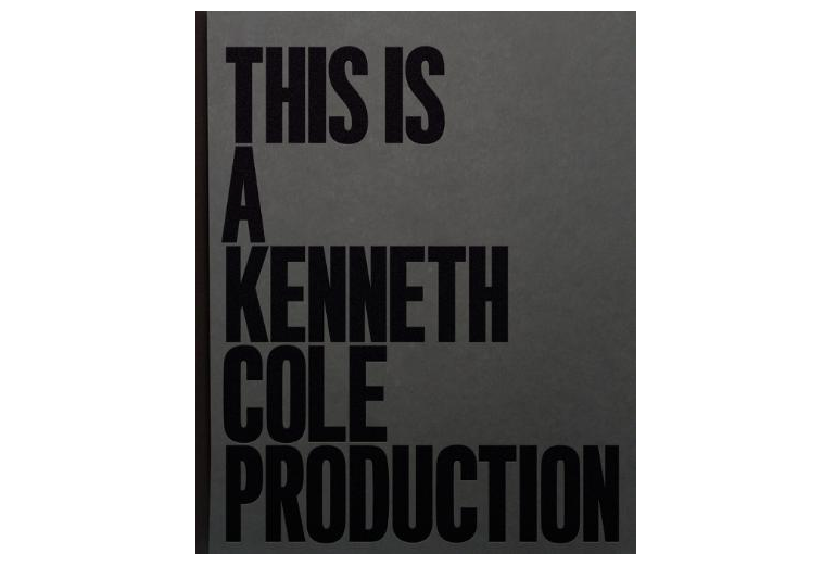 This is a Kenneth Cole Production book