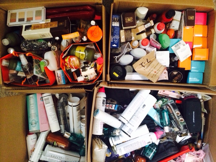 boxes of makeup