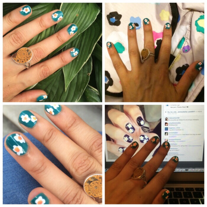 Pretty Connected flower manicure