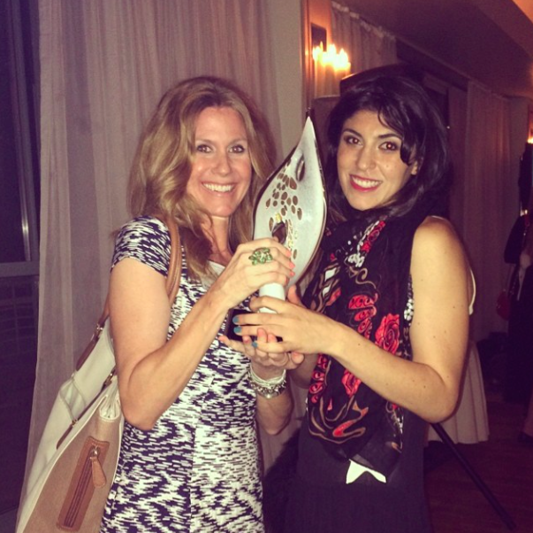 My moment with Jennifer Walsh at the ICMAD Awards (when we made up a category for favorite person ever)