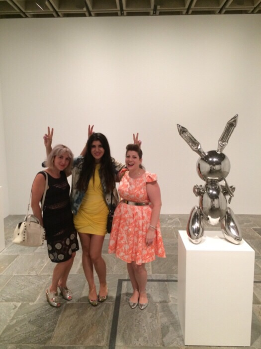 Bunny Ears with Piera Gelardi & Miss Pop Nails in front of Jeff Koons first Masterpiece