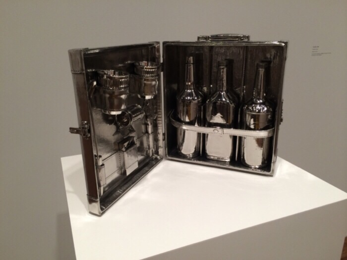 Jeff Koons Alcohol Piece in Cast Stainless Steal