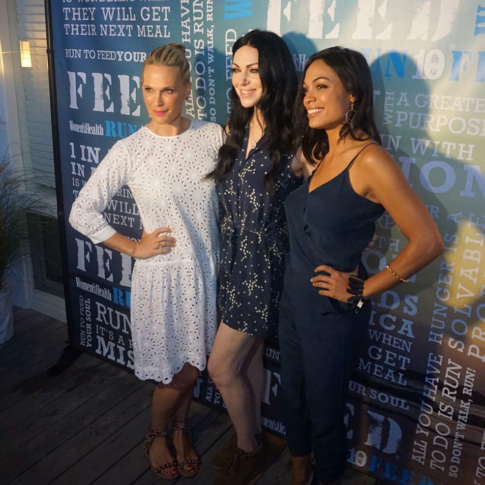 Laura Prepon, Rosario Dawson, Molly Sims at Women's Health x FEED Hamptons event