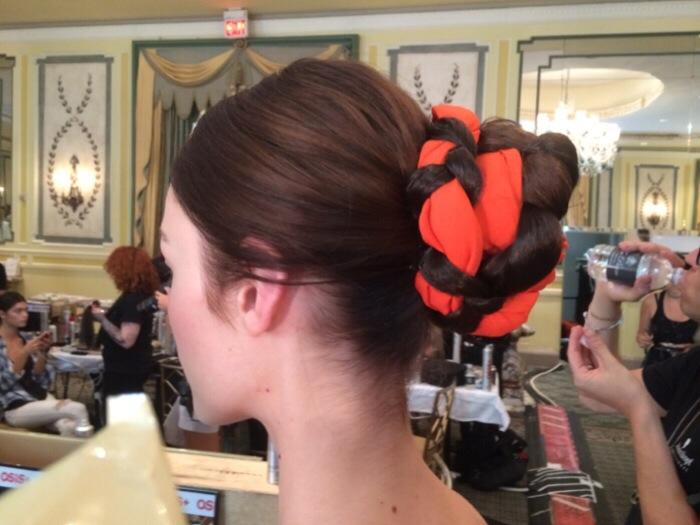 alice and olivia braided bun