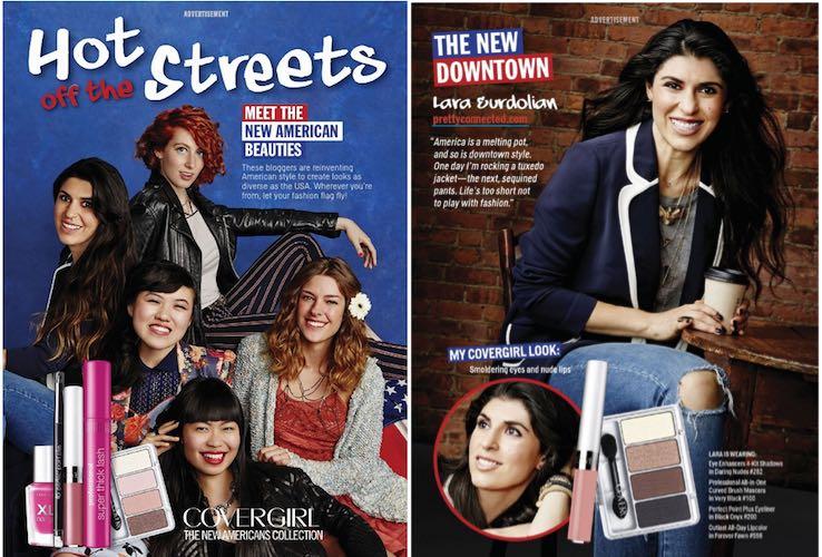 blogger spread cosmopolitan magazine covergirl
