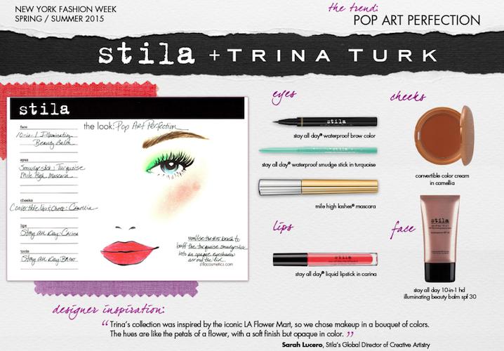 Stila pop art perfection at Trina Turk SS15