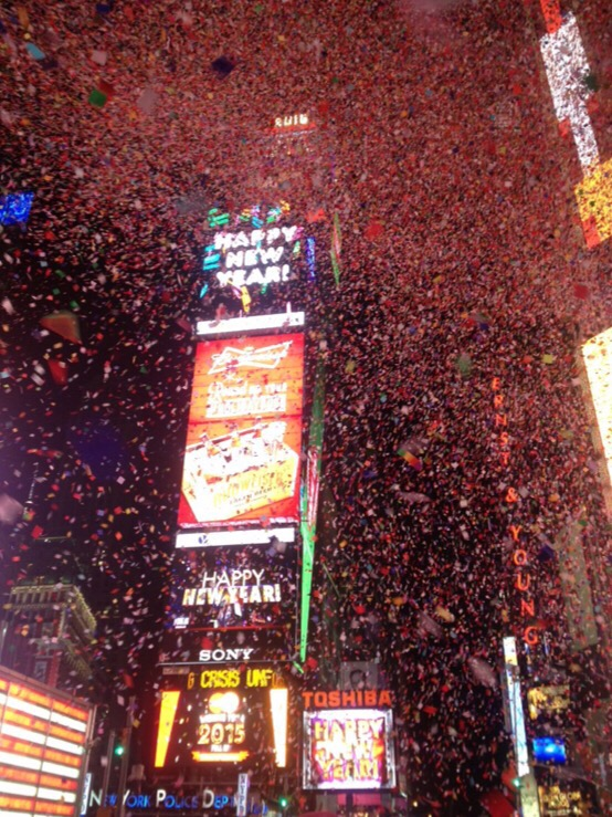 happy new years from times square