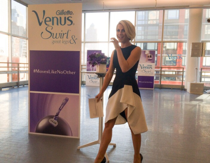 Julianne Hough at the Giletthe Launch of Venus Swirl Razor