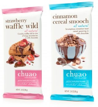 Chuao Chocolatier Strawberry Waffle Wild Bar & Cinnamon Cereal Smooch Bar