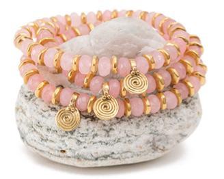 Eye of the Sea Rose Quartz Crystal Bracelet
