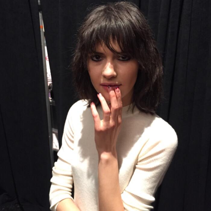 Rebecca Minkoff beauty look backstage fall 2015