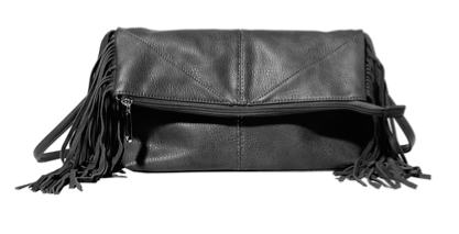 Steve Madden black fringe bag