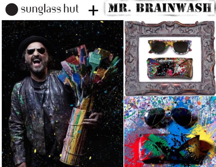 sunglass hut x mr. brainwash