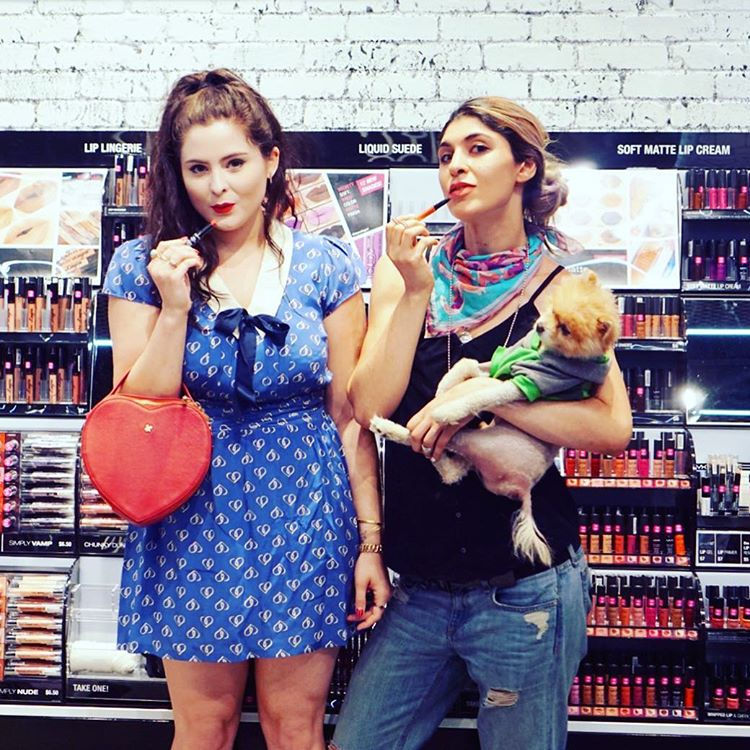 NYX Cosmetics store opening with Noelle Downing and Lara Eurdolian