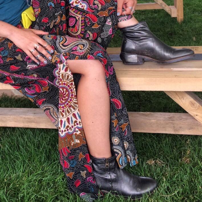 boohoo Meg Printed Wide Leg Trousers
