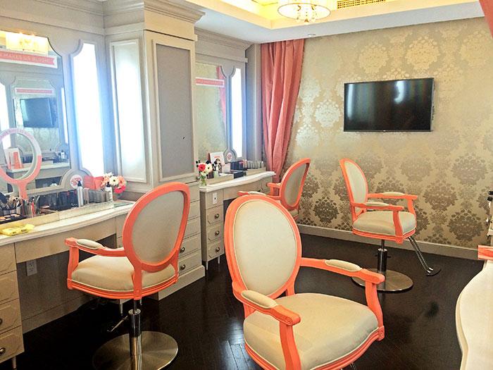 blushington beauty parlor at le parker meridien