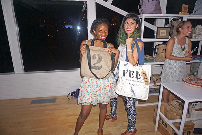 Lara Eurdolian, Lorna Solano at FEED x Women's Health Hamptons event