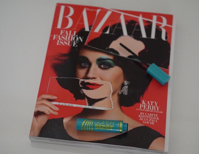 katy perry covergirl super sizer mascara harper's bazaar september issue 2015