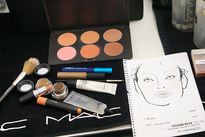 mac cosmetics beauty products used at Carven