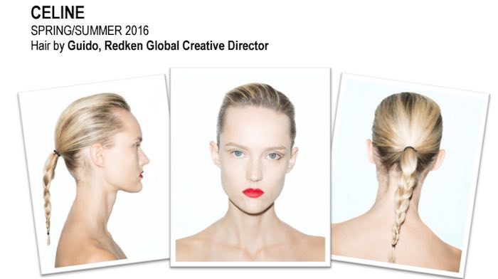 celine hair by guido for redken paris fashion week