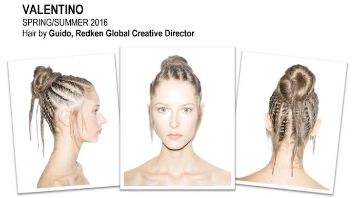 valentino how to hair backstage with guido and redken