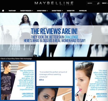 maybelline website blogger lara eurdolian pretty connected