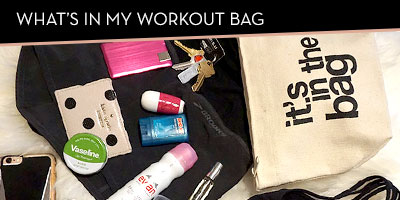 What's in my workout bag