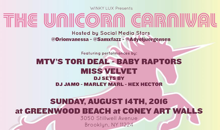 The Unicorn Carnival NYC winky lux