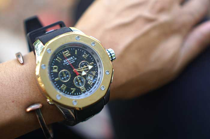 kyboe!-Stainless-Steel-Chronograph-Watch