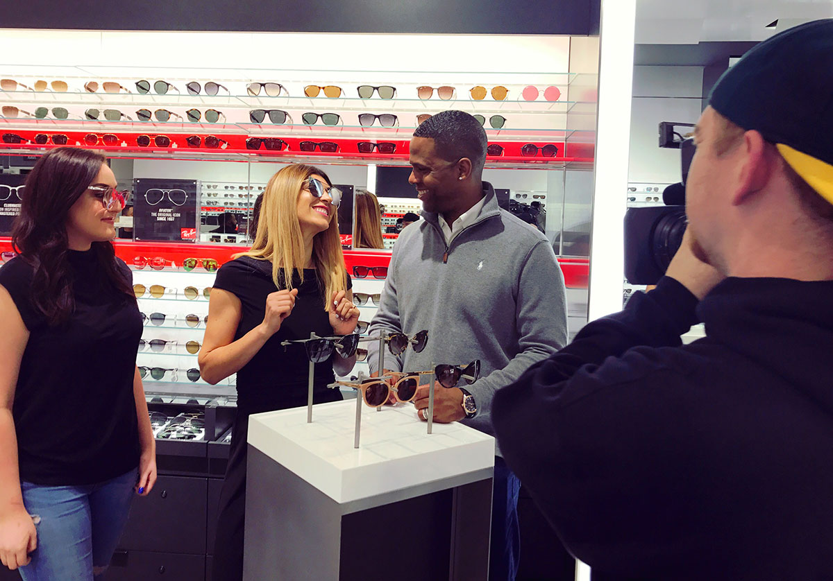 sunglass hut aj calloway lara eurdolian extra tv sunglasses segment